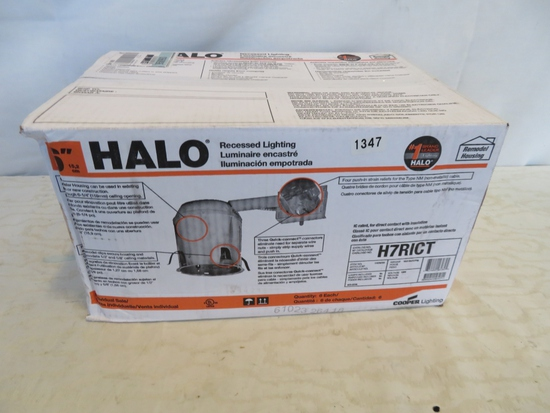 Case of 6 HALO Recessed Lighting Housings