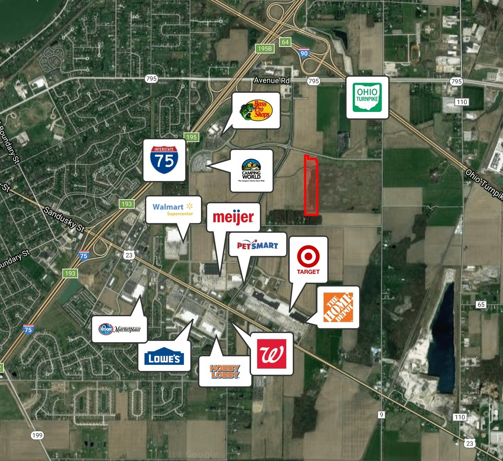 18 Acres, Bass Pro Blvd., Rossford (Toledo), OH