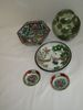 Lot - Assorted Asian Dishes - Small Ginger Jar w/ Lid, Famille Rose Bowls & Other