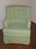 Green Upholstered Tufted Back Chair