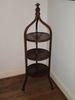 Three Tier Mahogany Accent Table w/ Decorative Finial