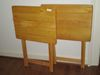 Pair Of Wooden T.V. Trays
