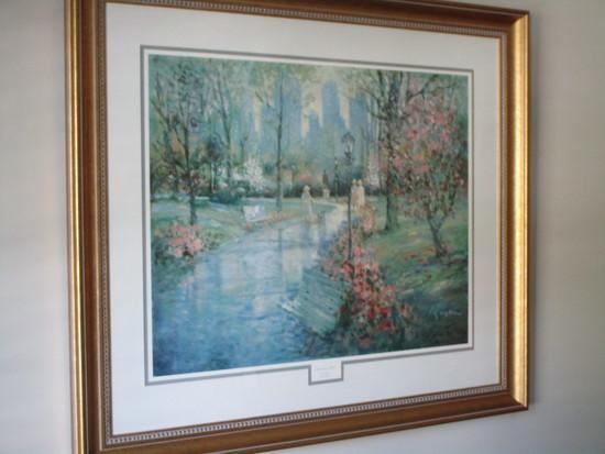 "Print ""Springtime Stroll"" by L. Gordon, Ltd. Ed.   32"" x 37"""