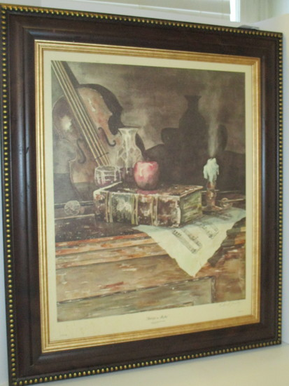 """Richard Gentry Numbered Print """"Still Life in B Flat""""  Artist Signed    34"""" x 29 1/2"""""""