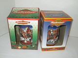 Lot - Budweiser Collectible Steins In Original Boxes - 1998 & 1999 20th Anniversary