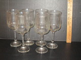 Lot - 6 Clear Glass Stems