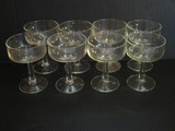 Lot - 8 Clear Glass Tall Sherbets