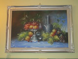 Oil on Canvas - Still Life In Silver Painted Frame