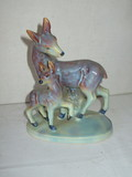 Vintage Ceramic Doe w/ Fawn - Made in Japan