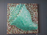 Screen Print of Sea Shell on Canvas