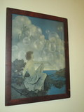Awesome Deco Era Maxfield Parrish Art Print Titled