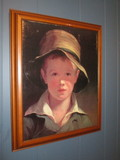 Framed Screen Print of Young Boy