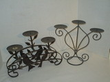 Lot - Misc. Decorative Metal Candle Holders