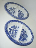 Blue Willow Divided Serving Bowls by Churchill