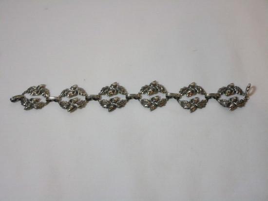 Danecraft Sterling Bracelet - Floral Design