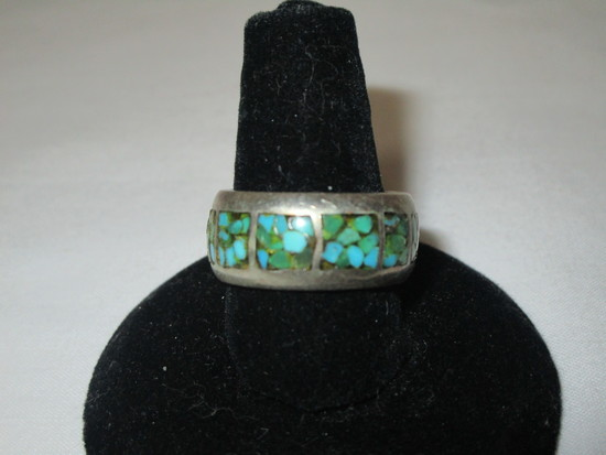 Sterling Band w/ Turquoise Stones