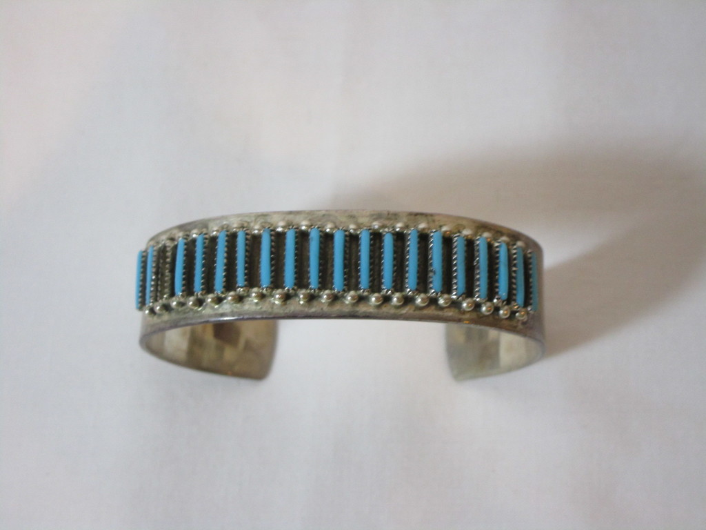 Nice Sterling Cuff w/ Turquoise Stones