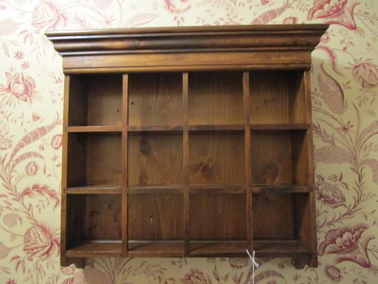 3 Shelf Hanging Pine Open Cabinet