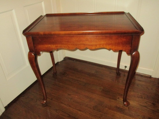 Chippendale Style Tea Table w/ 2 Slides