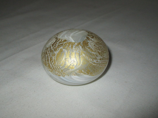 Isle of Wight Glass Paperweight w/ Original Label - Handmade in England