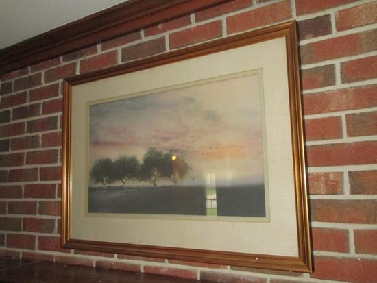 Sunset Print in Gilt Frame
