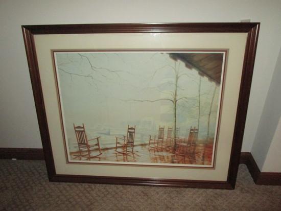 "Artist Signed Print Titled ""Harbor Town Light House""  6/858"
