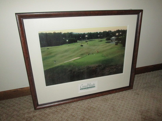 "Cross Winds Golf Club Print - Framed - 25 1/4"" X 32"""