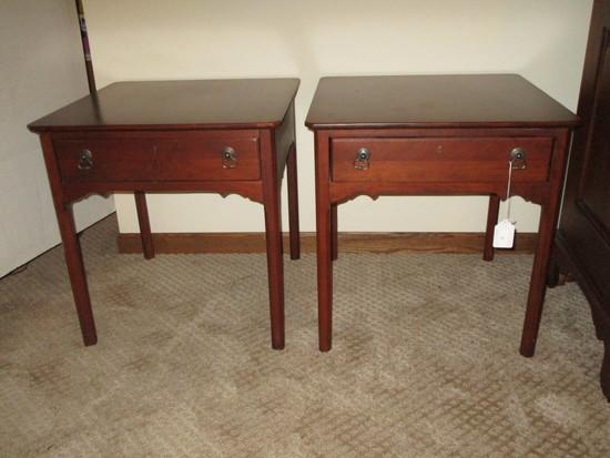 "Pair Lexington Furniture ""Bob Timberlake"" Mahogany One Drawer End Tables"