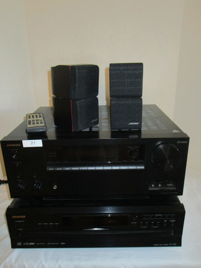 Lot Onkyo Electronics AV Receiver, TX - NR656 & 6 Disc Compact Disc Compact Changer DX 390