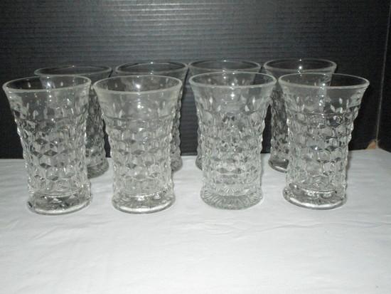 Lot - 8 Fostoria American Flat Iced Tea Glasses