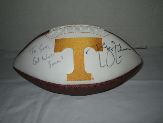 Autographed University of Tennessee Football - slightly deflated