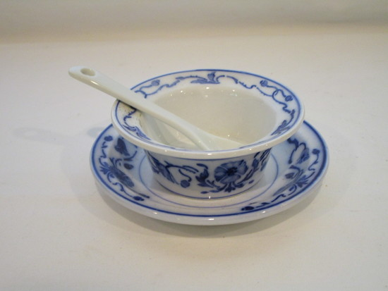 Villeroy & Boch Blue & White Mayo Dish & Underplate  Made in Germany