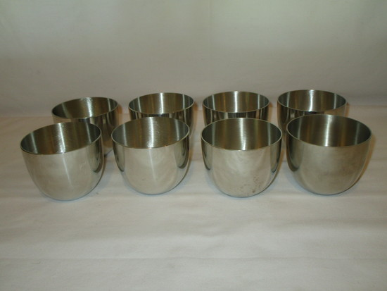 8 Pewter Jefferson Cups    1 - Stieff