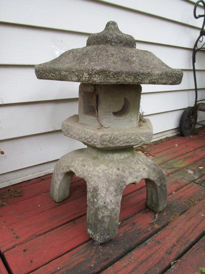 """Concrete Pagoda - 3 pcs.  Approx.. 22 1/2"""""""