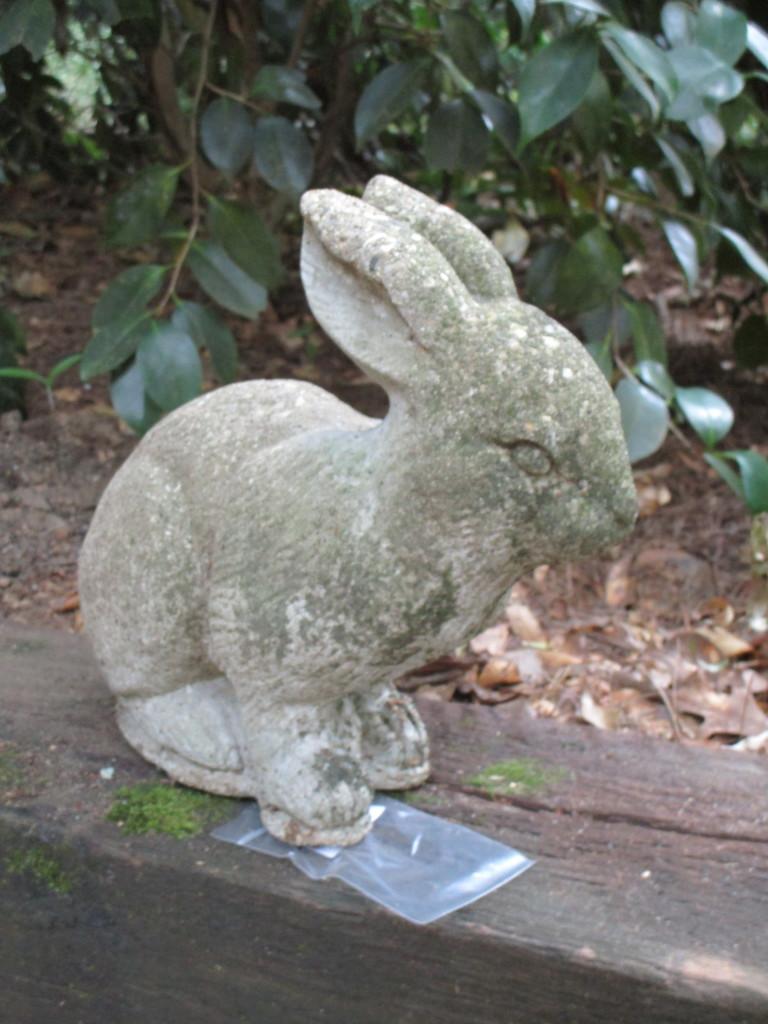 "Concrete Rabbit Garden Art    11"""