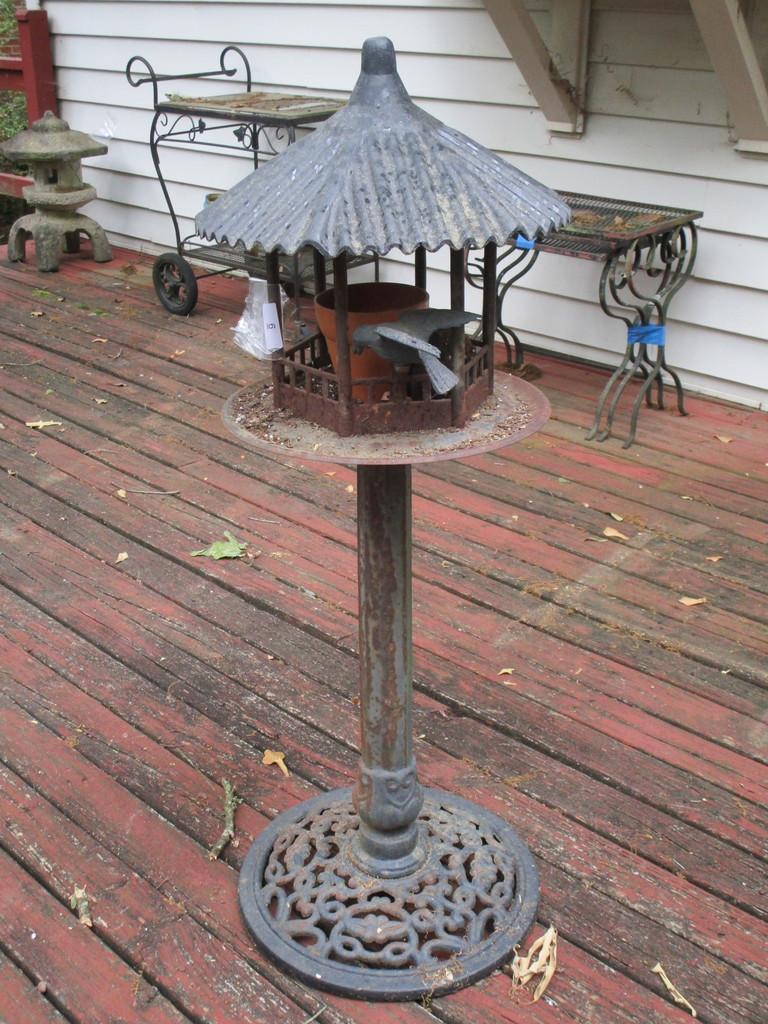 """Decorative Iron Bird Feeder     38 1/2"""""""