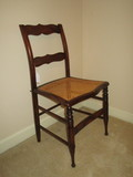Mahogany Stenciled Grain Side Chair w/Cane Seat - Beautiful Design