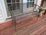 Wrought Iron Patio Settee