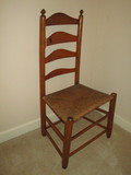 Maple Ladder Back Chair w/Rush Seat