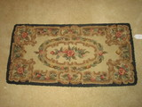 Hand Hooked Rug w/Black Border     Approx. 21