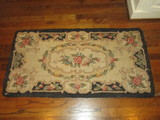 Hand Hooked Rug w/Black Border     Approx. 22