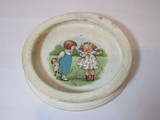 Early Buffalo Pottery Childs Dish  Condition Rough but Still a cutie!     7 1/2