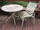 Metal Patio Table w/chair