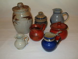 Lot - Misc. Art Pottery - Salt Glaze & Other