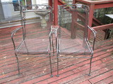 Pair Wrought Iron Lounge Chairs