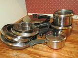 16 pc. Set of Revere Cook Ware w/Copper Bottoms