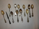 Sterling Spoon Lot - 12   Repousse & Other