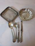 Sterling Lot - 2 Bowls & 4 Sterling Flatware Pieces