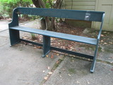 Painted Blue Wooden Garden Bench   6' 4 1/2