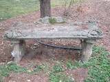Sweet Concrete Garden Bench w/Grape Cluster & Leaf Design